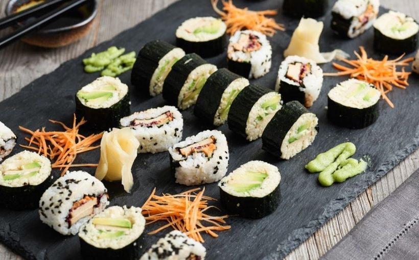 Vegane Sushi mit Couscous