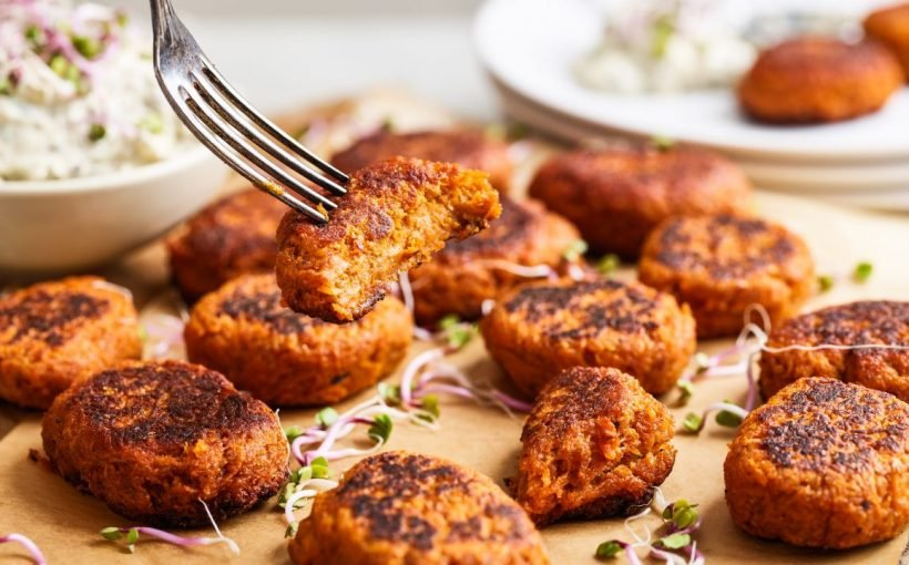 Karotten-Nuggets mit selbst gemachter Remoulade – vegan