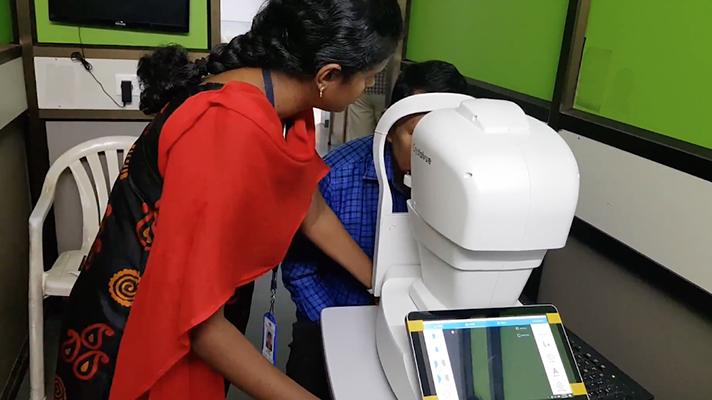 Google, Wahrlich, mit AI auf dem Bildschirm für die diabetische Retinopathie in Indien