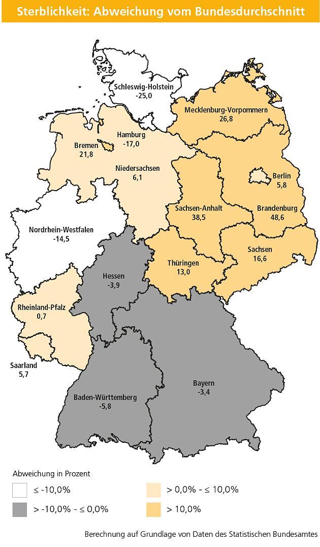 Der große Herz-Atlas: Hier in Deutschland sind Herztote besonders selten