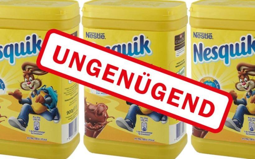 Kakao Nestlé Nesquik fällt komplett durch - Auch Organschäden können auftreten!