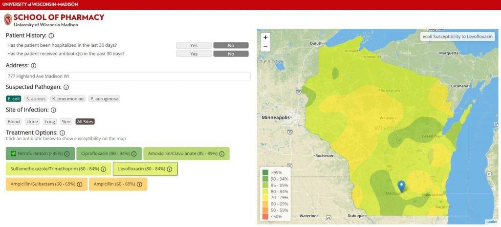 Antibiotika-Resistenz über Wisconsin ergeben, werden durch neue Karten