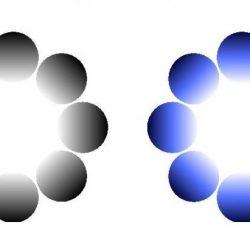 Pupillary response-glare Illusionen in verschiedenen Farben