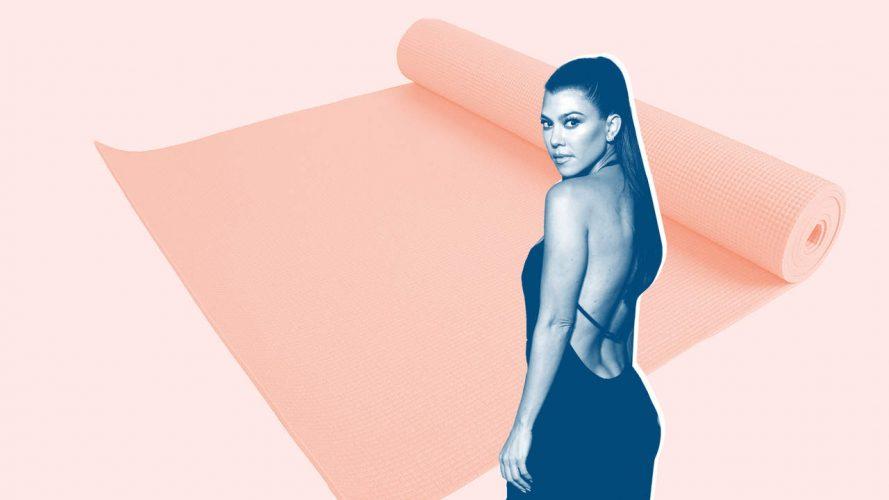 Kourtney Kardashian Gerade Teilte Ihr Super-Intensive HIIT Routine—Und die $13 Yoga-Matte, die Sie Verwendet in der Turnhalle