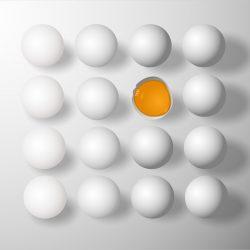 Einfache Lösung, um sicherzustellen, rohes ei, Sicherheit