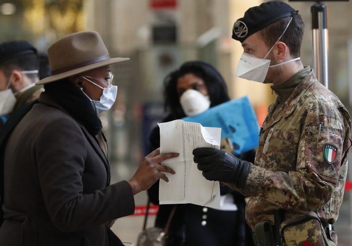 Italien erlegt Bundesweit Beschränkungen enthalten, die den neuen virus