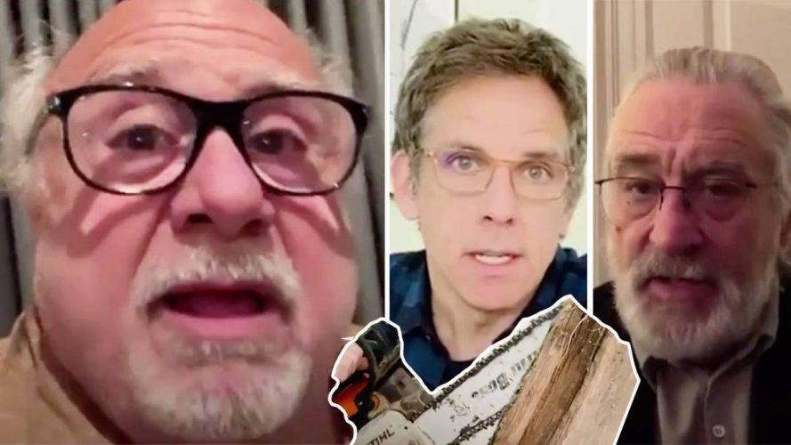 Hollywood-Legenden warnen US-Bürger – einer vertreibt sich die Zeit mit Kettensägen