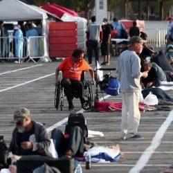 Ein Quadrat als Schlafplatz: Obdachlose in Las Vegas müssen auf Parkplatz übernachten