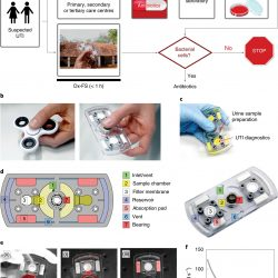 Ein zappeln spinner-ähnliches Gerät für die schnelle Erkennung von Harnwegsinfektionen im Urin